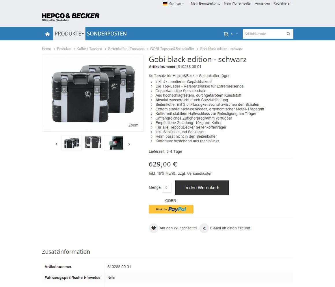 Hepco&Becker Produktdetail