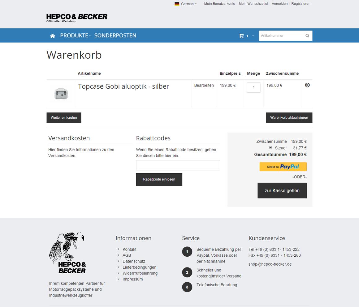 Hepco&Becker Warenkorb