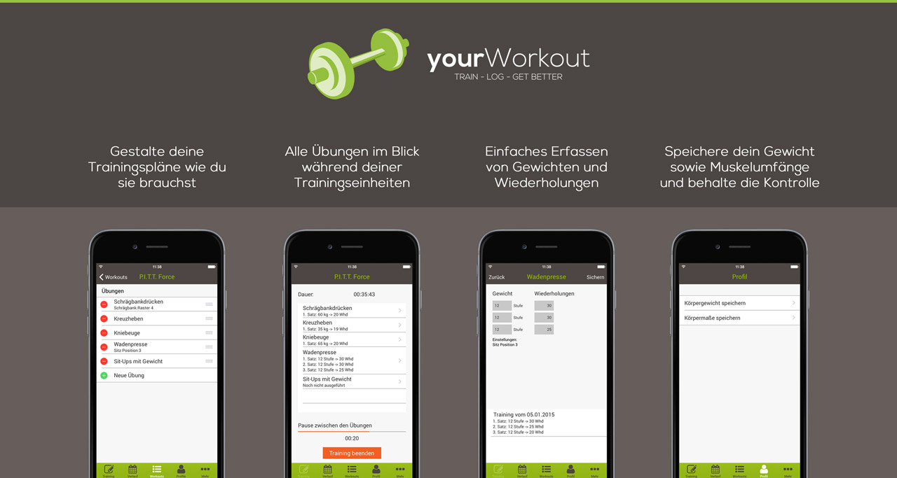yourWorkout - Trainings-Logbuch App