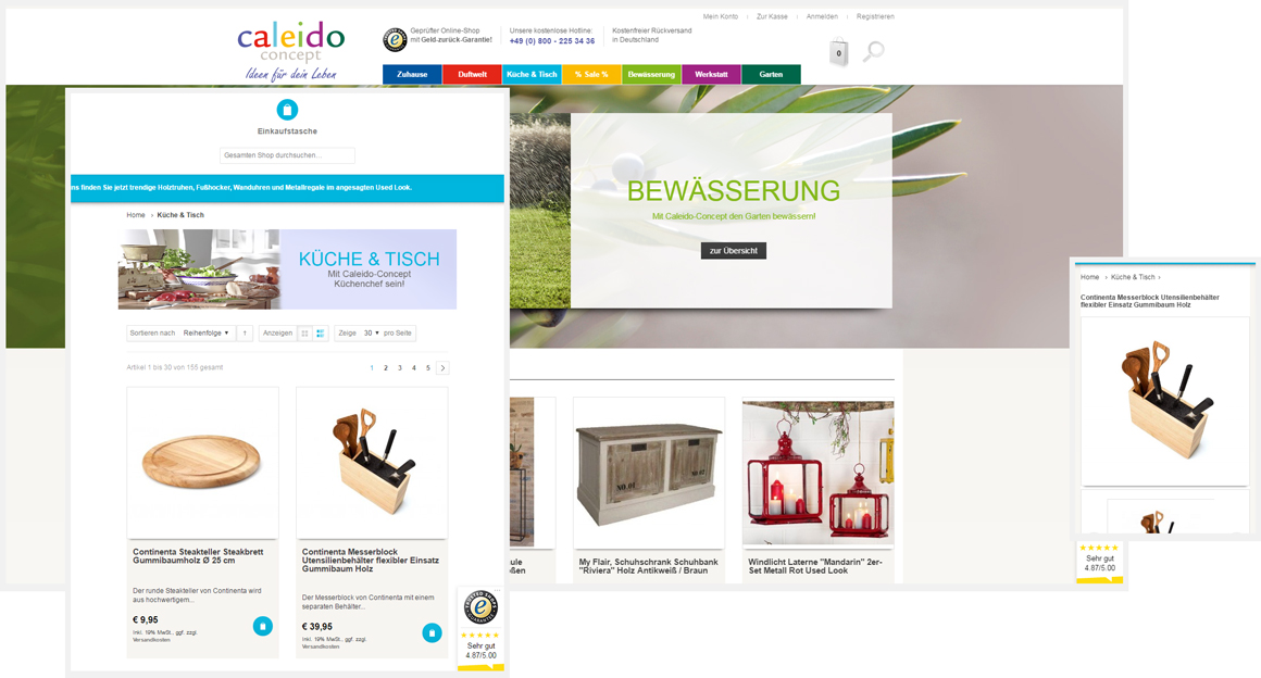 Caleido-Concept - Magento responsive Webdesign