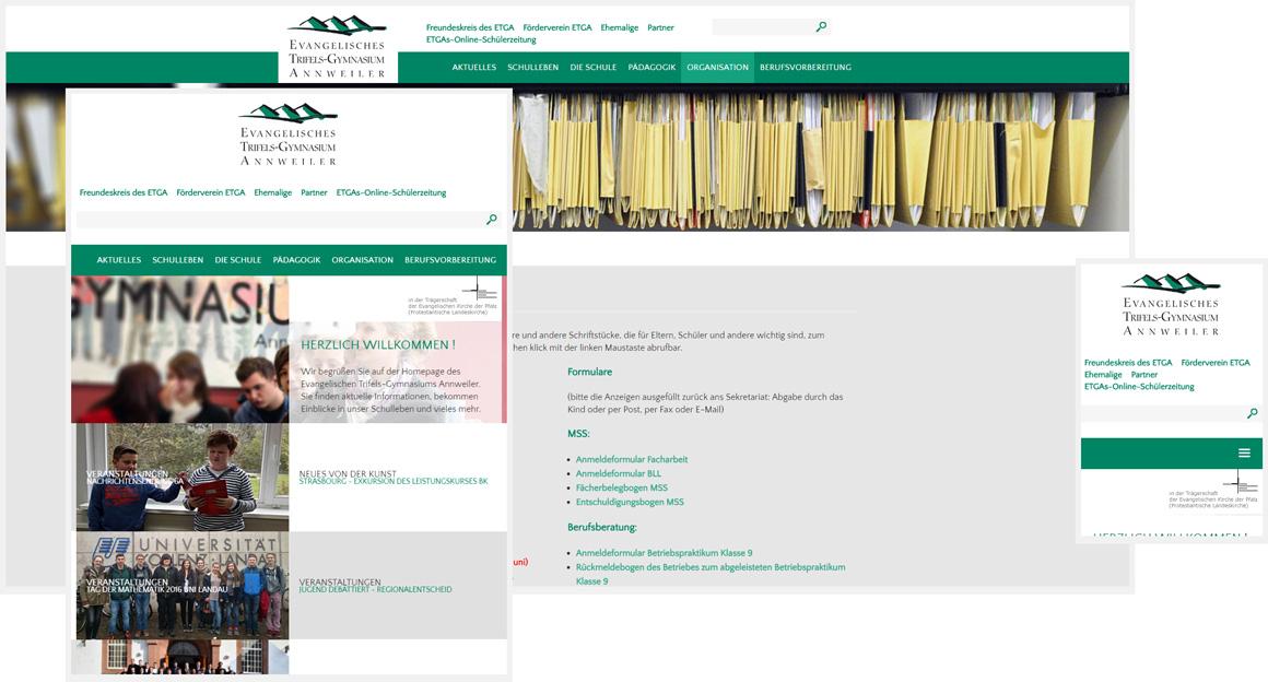 Trifelsgymnasium responsive Contao