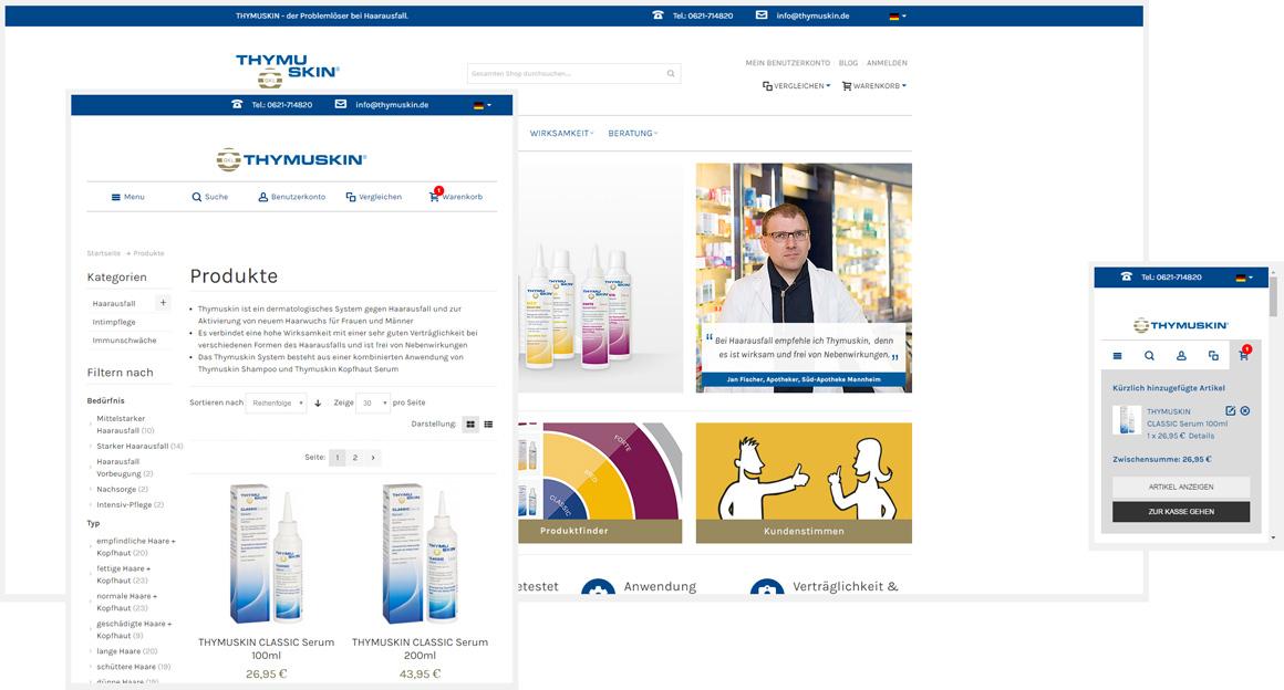 Thymuskin.de - Responsive Magento Onlineshop