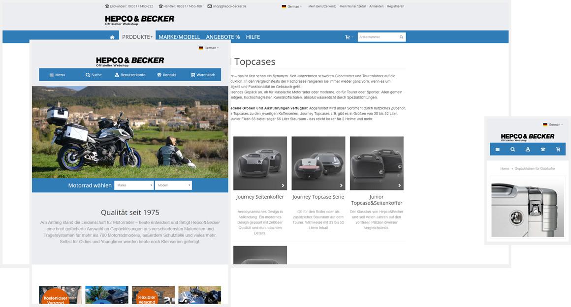 Hepco&Becker - Responsive Magento Onlineshop