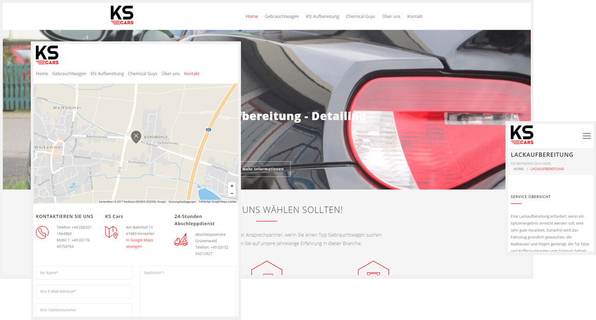Autohandel ks-cars.de - Responsive Wordpress Webseite