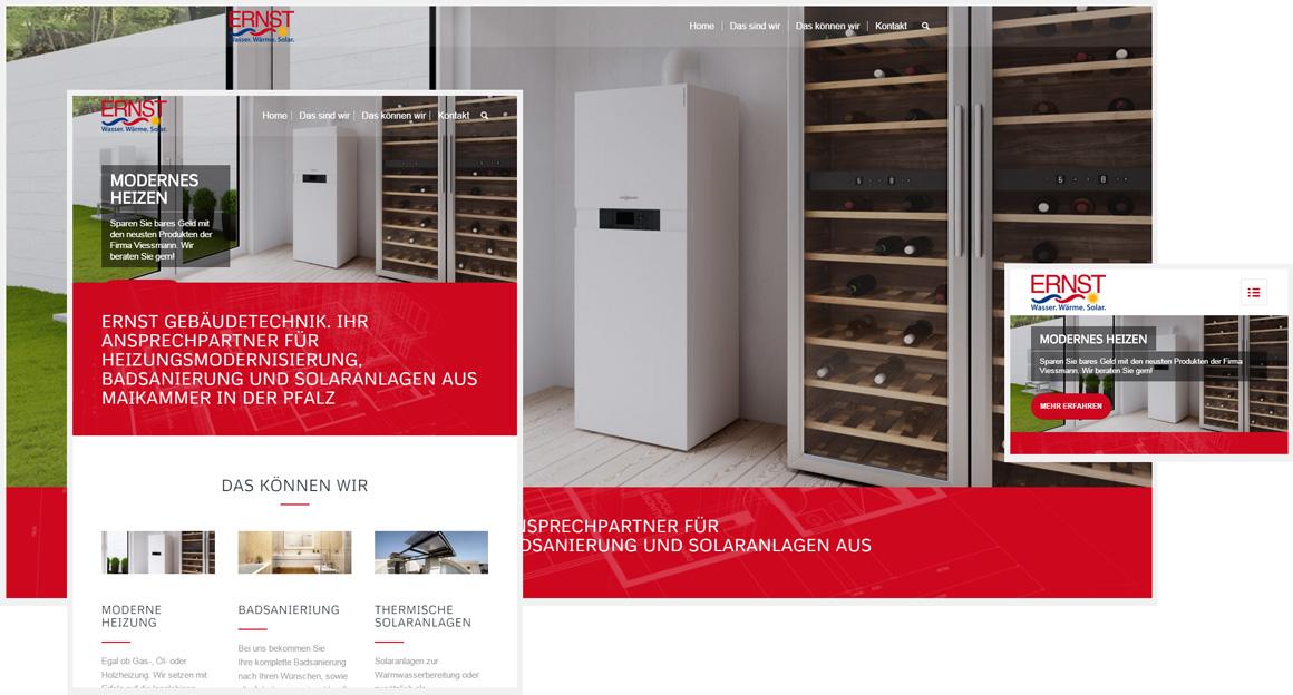 Responsive Webdesign Ernst Gebäudetechnik
