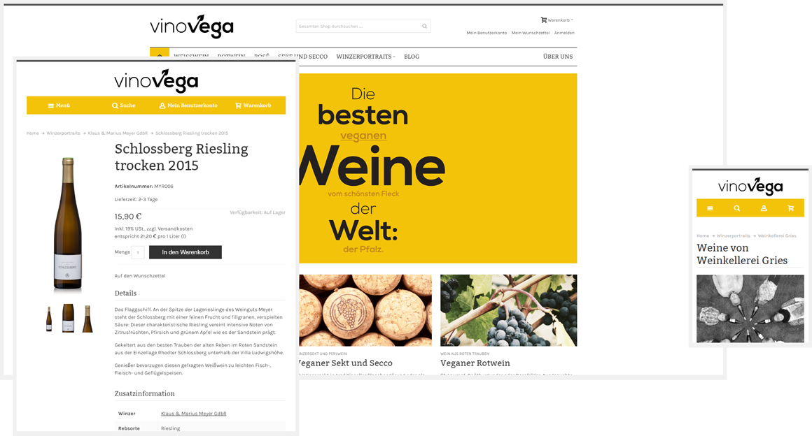 Händler für vegane Pfälzer Weine: vinovega.de