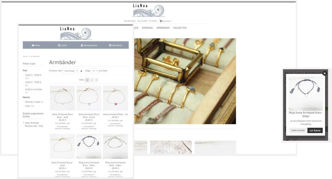 Magento responsive Design lianoa.de