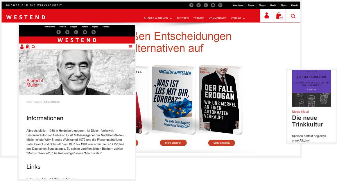 Westend Verlag responsive Webdesign