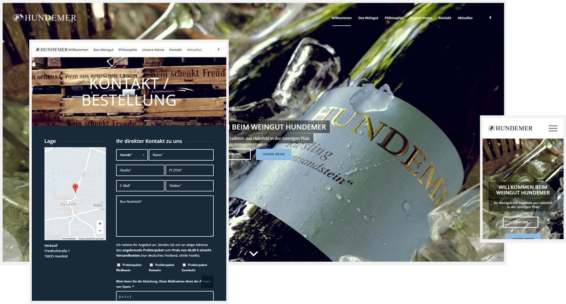 Weingut Hundemer - Responsive Webdesign