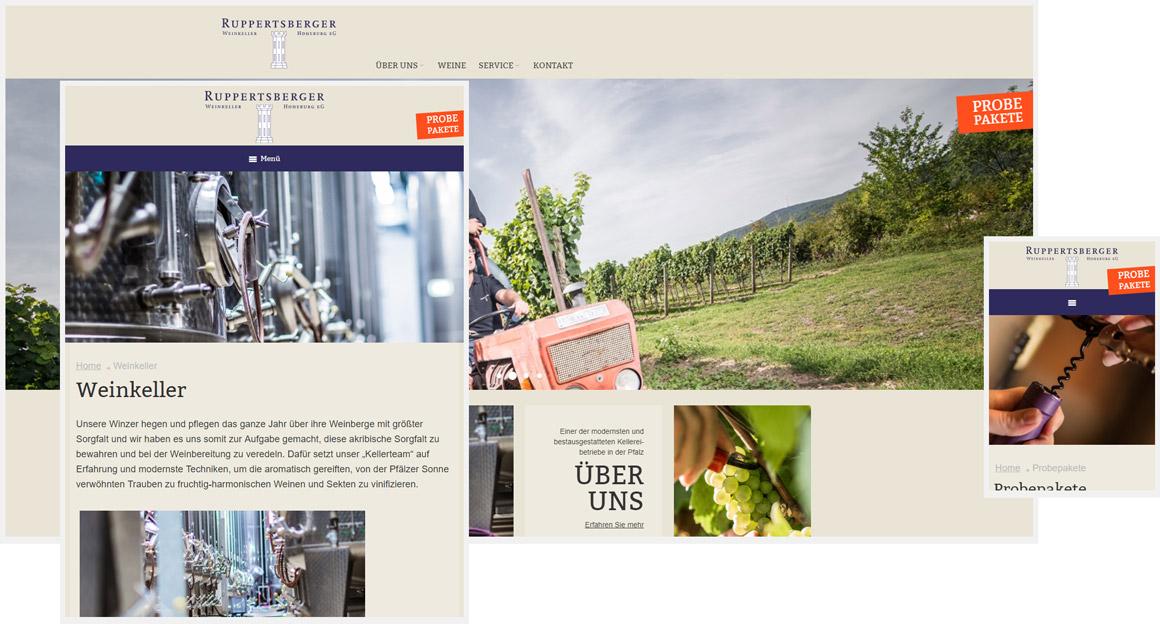 Ruppertsberger Weinkeller Responsive Magento Onlineshop