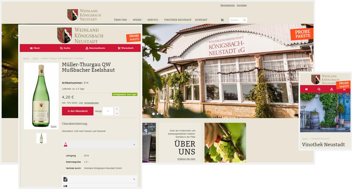 Weinland Königsbach Neustadt Responsive Magento Onlineshop