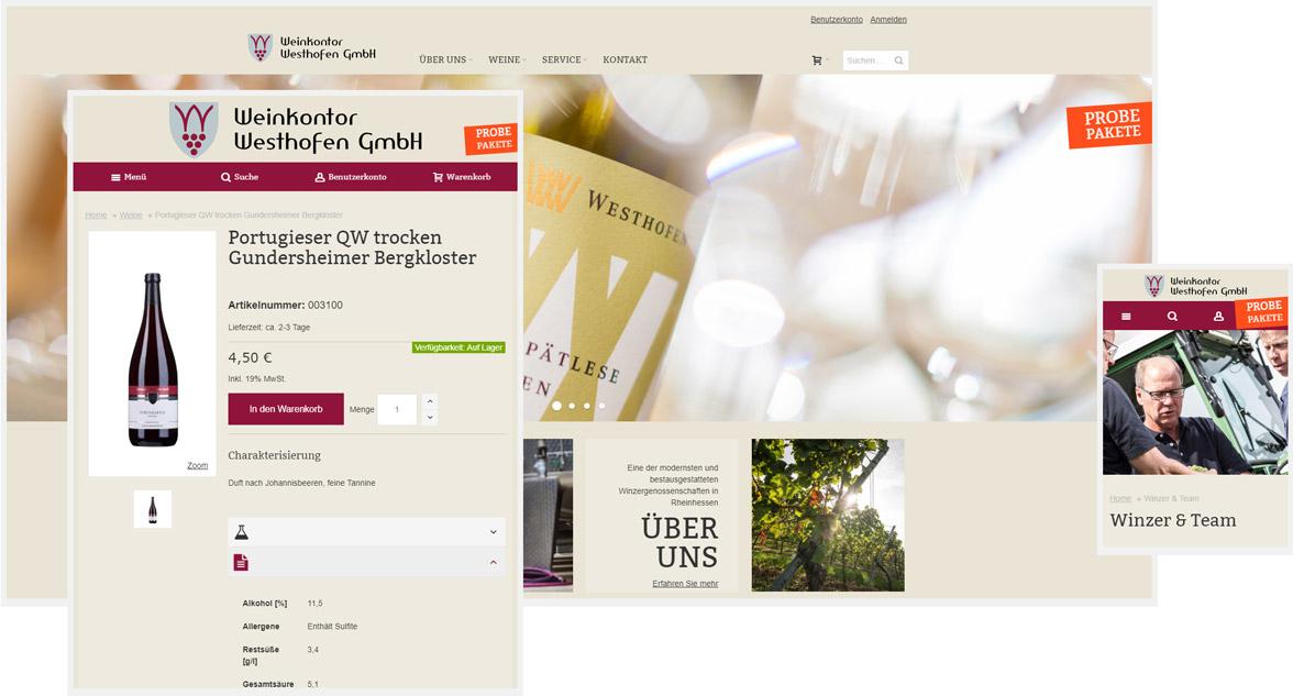 Weinkonto Westhofen Responsive Magento Onlineshop