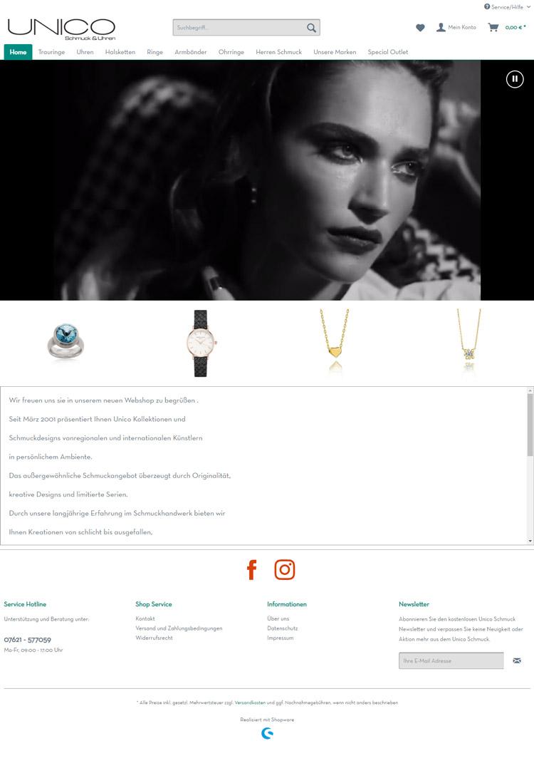 UNICO responsive Shopware Onlineshop