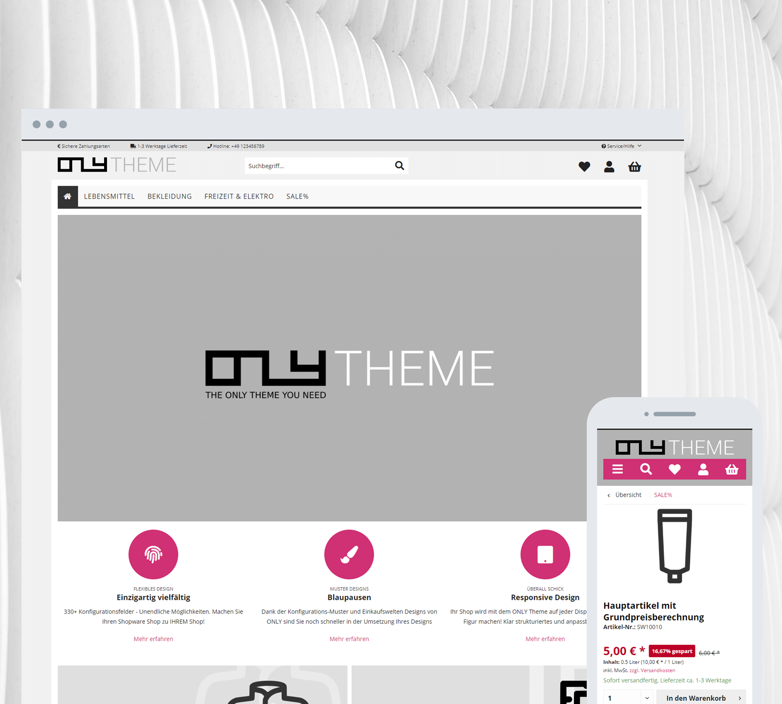 Shopware Theme ONLY